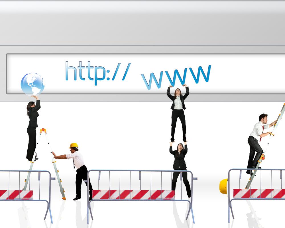 サイトをリニューアル(工事)中の様子